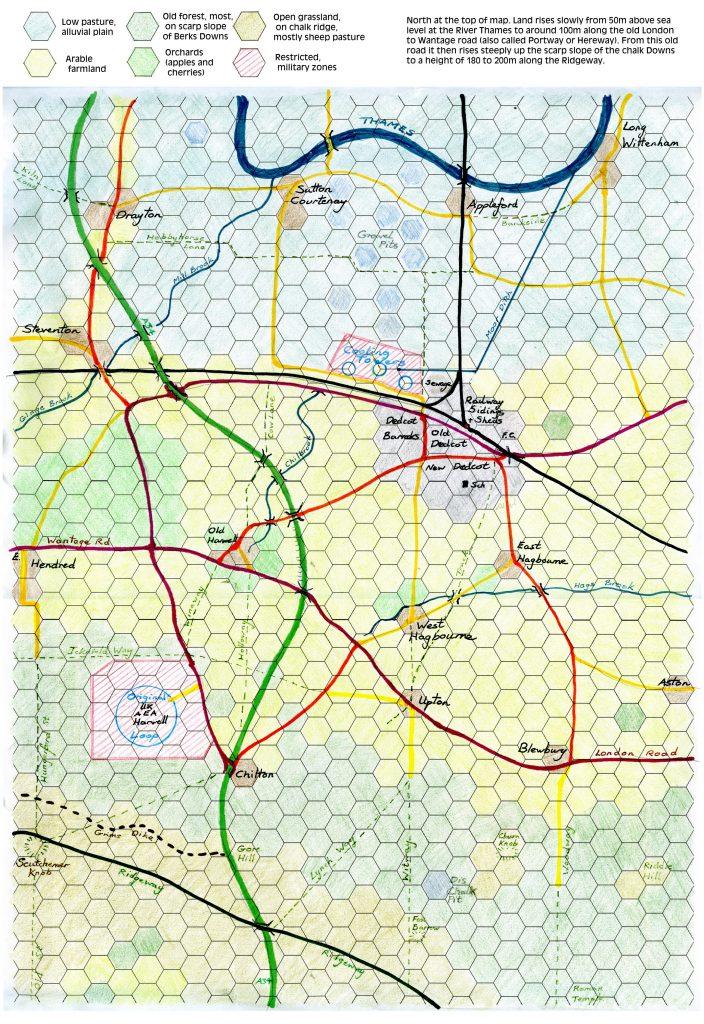 Hex map of Dedcot area